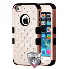 Rose Gold/Black FullStar Hybrid Protector Cover [Military-Grade Certified]