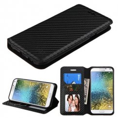 Samsung Galaxy E5 Black Braided Wallet