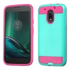 Motorola Moto G4 Play Teal Green/Hot Pink Brushed Hybrid Case