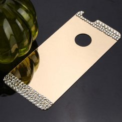 Apple iPhone 6 Diamond Electroplated Acrylic Back Plate/Gold