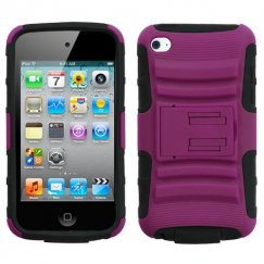 Apple iPod Touch (4th Generation) Hot Pink/Black Advanced Armor Stand Case