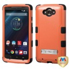 Motorola Droid Turbo XT1254 Natural Orange/Black Hybrid Phone Protector Cover (with Stand)
