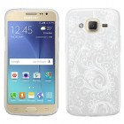 Samsung Galaxy J2 White four-leaf Clover Candy Skin Cover