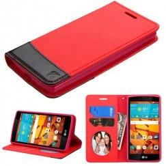 LG LS751 Volt 2 Red/Black wallet with Card Slot
