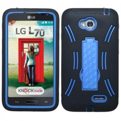 LG Optimus L70 Dark Blue/Black Symbiosis Stand Case