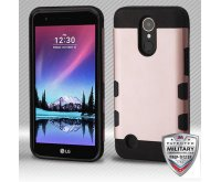 Rose Gold/Black Hybrid Protector Cover [Military-Grade Certified]
