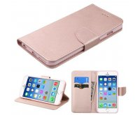Apple iPhone 6 Rose Gold Pattern/Rose Gold Liner MyJacket wallet (with card slot)(84G)