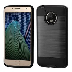 Motorola Moto G Black/Black Brushed Hybrid Case