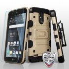 Gold/Black 3-in-1 Storm Tank Hybrid Protector Cover Combo (with Black Holster)(Flexible Shatter-Proof Screen Protector)[Military-Grade Certified]