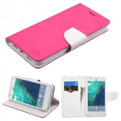 Google Pixel Hot Pink Pattern/White Liner wallet with Card Slot