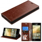 ZTE Warp Elite Brown Wallet with Tray