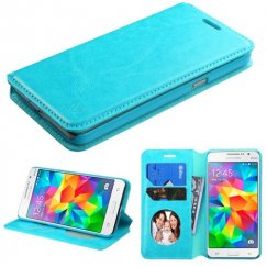 Samsung Galaxy Grand Prime Blue Wallet with Tray