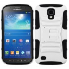 Samsung Galaxy S4 Active SGH-i537 White/Black Advanced Armor Stand Case