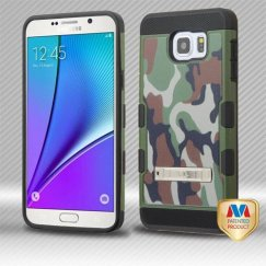 Samsung Galaxy Note 5 Classic Camouflage/Black Hybrid Case with Stand
