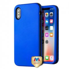 Apple iPhone X Titanium Dark Blue/Black Hybrid Case