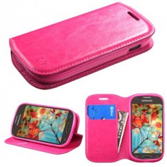 Samsung Galaxy Light Hot Pink Wallet with Tray