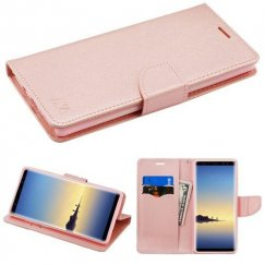 Samsung Galaxy Note 8 Rose Gold Pattern/Rose Gold Liner wallet with Card Slot