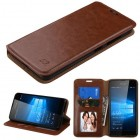Nokia Lumia 650 Brown Wallet(with Tray)