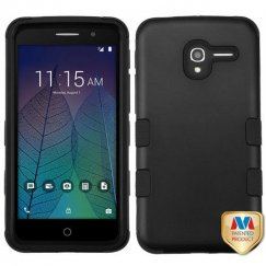 Alcatel Stellar / Tru 5065 Rubberized Black/Black Hybrid Case