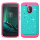 Motorola Moto G4 Play Teal Green/Electric Pink FullStar Protector Cover