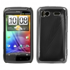 HTC Sensation 4G Black brushed METAL Cosmo Back Case