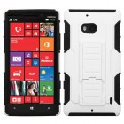 Nokia Lumia Icon White/Black Car Armor Stand Case - Rubberized
