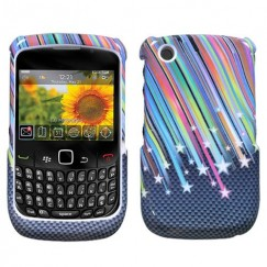 Blackberry 9300 Curve Carbon Star Case