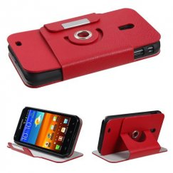 Samsung Epic 4G Touch (Galaxy S2) Red Premium Rotatable Wallet