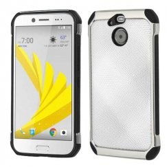 HTC Bolt Silver Dots Silver Plating/Black Astronoot Case