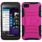 Blackberry Z10 Hot Pink/Black Advanced Armor Stand Protector Cover
