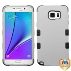 Samsung Galaxy Note 5 Rubberized Gray/Black Hybrid Phone Protector Cover