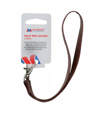 (5PCS) Brown Leather Hand Wrist Lanyard (Metal Lobster Clip) (7.5inch)