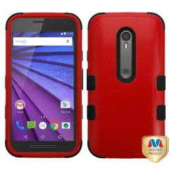 Motorola Moto G 3rd Gen Natural Red/Black Hybrid Case