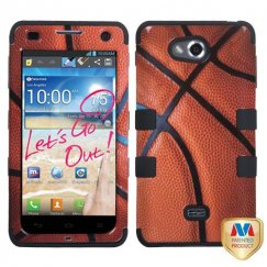 LG Spirit 4G Basketball-Sports Collection/Black Hybrid Case
