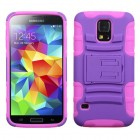 Samsung Galaxy S5 Purple/Electric Pink Advanced Armor Stand Case
