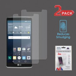 LG G Stylo Anti-grease LCD Screen Protector - Clear - 2-pack