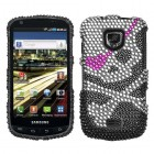 Samsung Droid Charge SCH-i510 Skull Diamante Protector Cover
