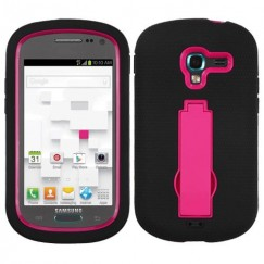 Samsung Galaxy Exhibit Hot Pink/Black Symbiosis Stand Case