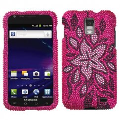 Samsung Galaxy S2 Skyrocket Tasteful Flowers Diamante Case