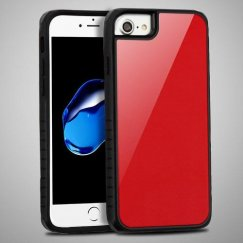 Red Tempered Glass/Black Fusion Protector Cover