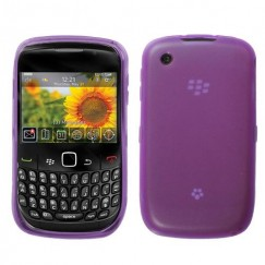 Blackberry 9300 Curve Semi Transparent Purple Candy Skin Cover - Rubberized