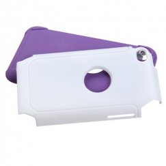 Apple iPod Touch (4th Generation) White/Electric Purple Frosted Fusion Case