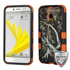 HTC Bolt Yellow/Black Vine/Orange Hybrid Case Military Grade