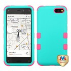 Amazon Amazon Fire Phone Rubberized Teal Green/Electric Pink Hybrid Case