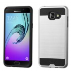 Samsung Galaxy A5 Silver/Black Brushed Hybrid Case