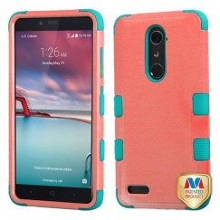 ZTE Grand X Max 2 Natural Baby Red/Tropical Teal Hybrid Case