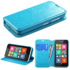 Nokia Lumia 530 Blue Wallet(with Tray)