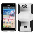 LG Spirit 4G White/Black Astronoot Phone Protector Cover