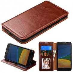 Motorola Moto G Brown Wallet with Tray