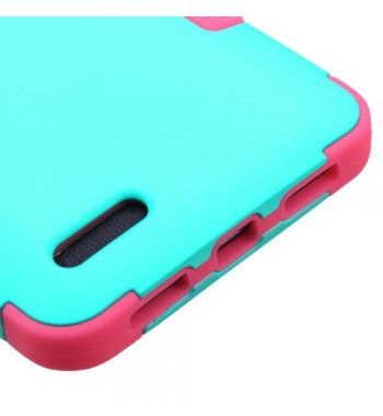 ZTE Grand X Max 2 Rubberized Teal Green/Electric Pink Hybrid Case